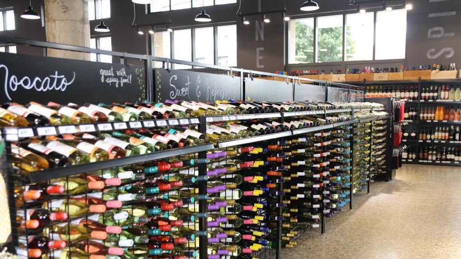 Bridge Street Market has an expansive offering of adult beverages, many of which, are made in Michigan.