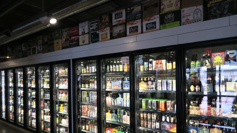 Craft Beer Cellar refrigerated section