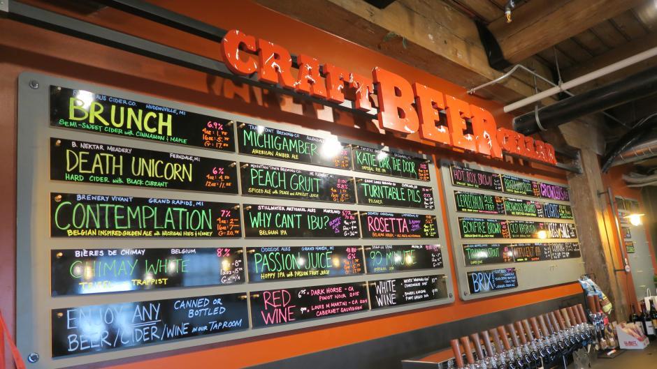 Craft Beer Cellar draft list