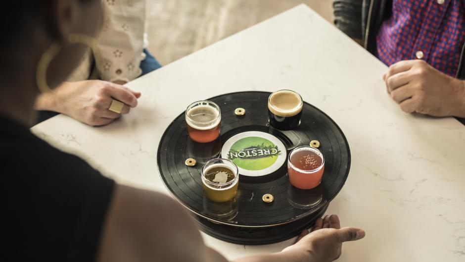 Experience any number of vinyl nights at several bars and breweries around Grand Rapids, like Creston Brewery.