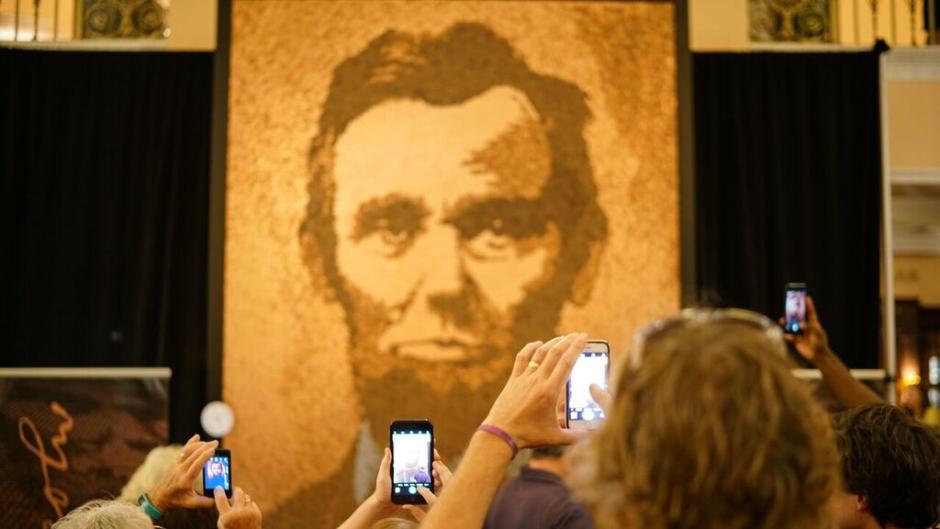 """Richard Schlatter's """"A. Lincoln."""""""
