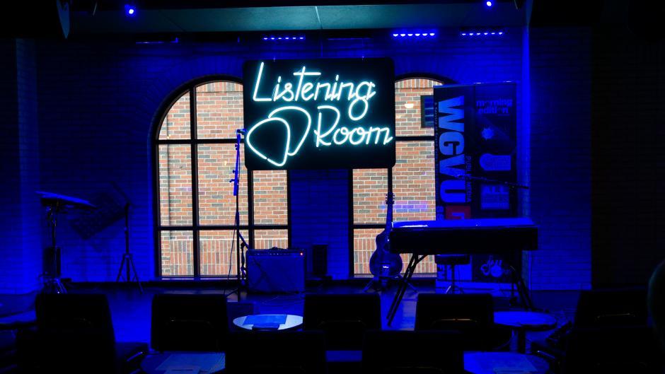 Inside Studio Park's concert venue, the Listening Room.