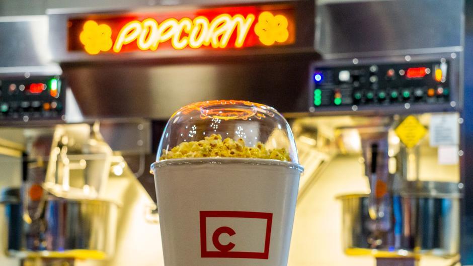 A bowl of popcorn at Studio C in Studio Park.
