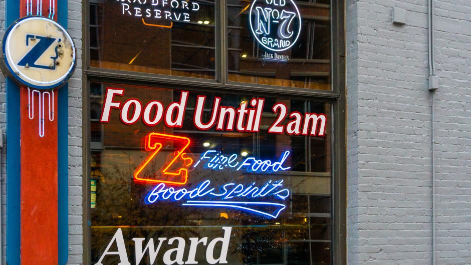 Exterior of Z's Bar