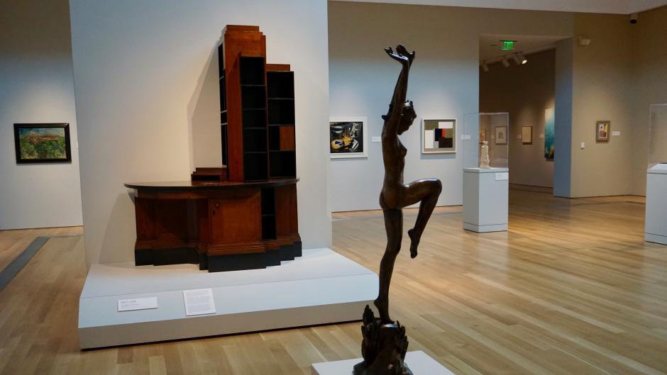A sculpture at the Grand Rapids Art Museum