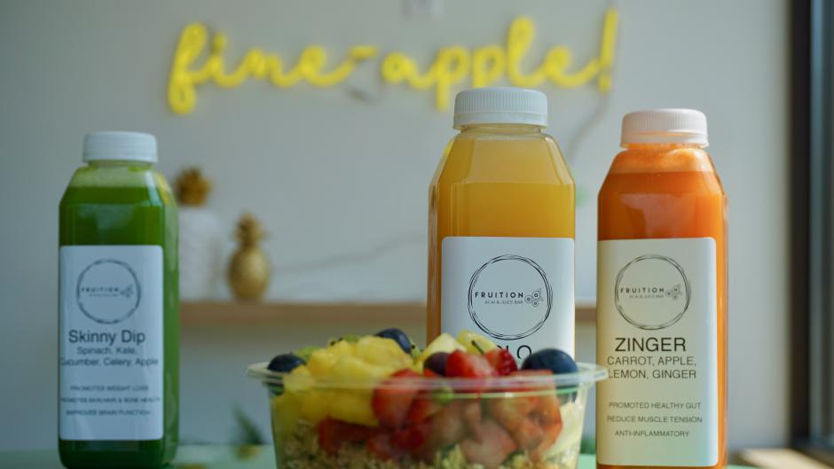 Juice and Acai at Fruition