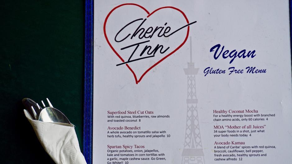 Cherie Inn offers a mouth-watering vegan and gluten free menu