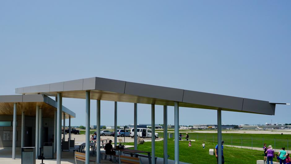 Enjoy a memorable picnic experience watching planes take off and land at the Airport Viewing Park