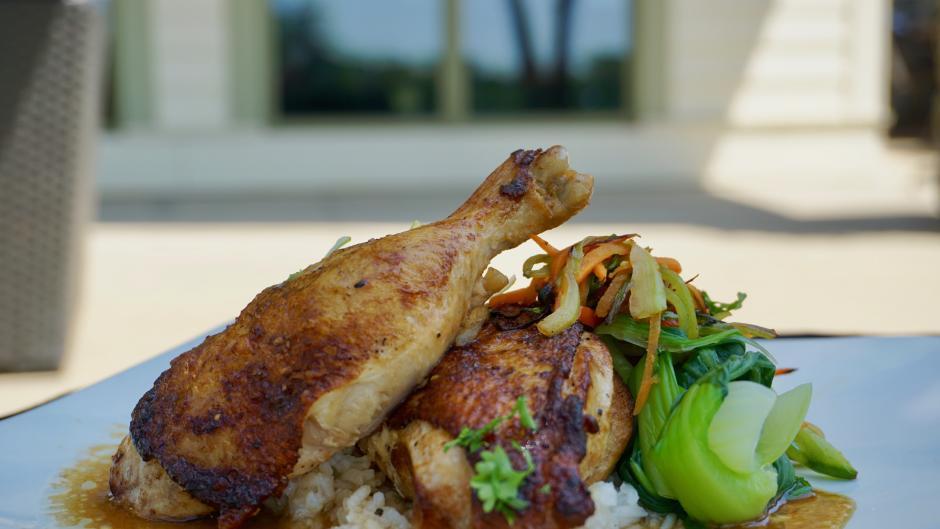 FireRock Grille RWGR dish - Asian Adobo Chicken