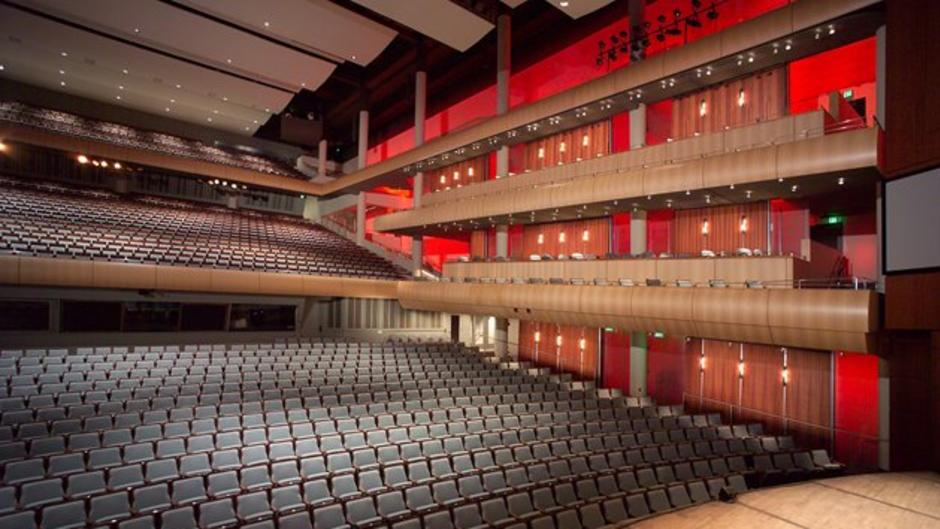 Interior of DeVos Performance Hall, which houses performances from the Grand Rapids Symphony, Broadway Grand Rapids, and more.