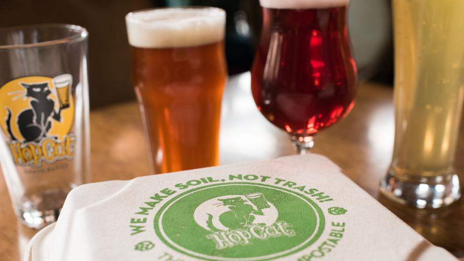Many of the breweries and restaurants around Grand Rapids prioritize sustainability and reducing waste.