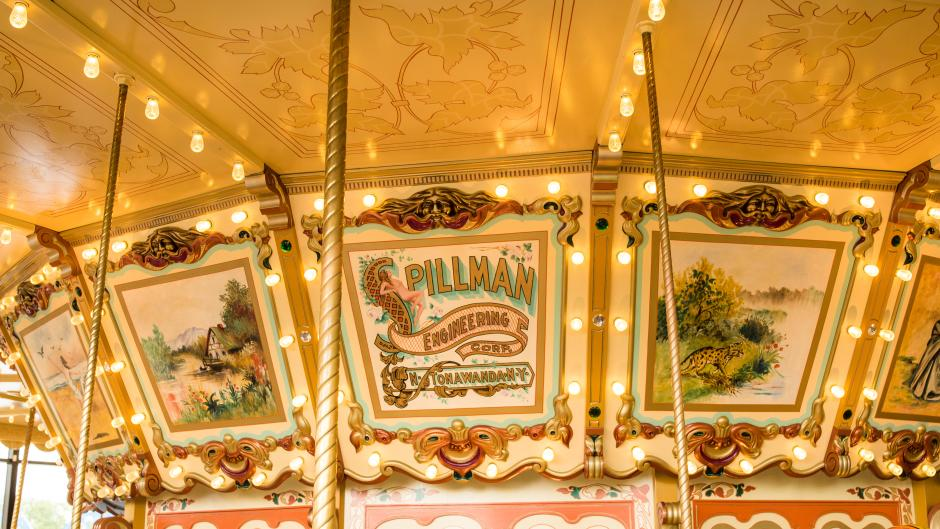 Fact: The Spillman Carousel is one of three special park carousels to have been produced by the Spillman Engineering Co.