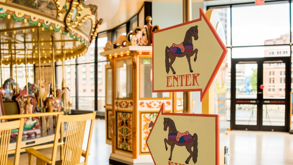 The Spillman Carousel is sure to provide family-friendly entertainment for riders of all ages.