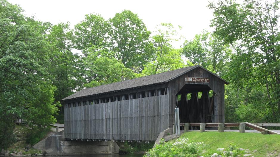 There are many sites at Fallasburg Park and Lepard Nature Preserve including a covered bridge.