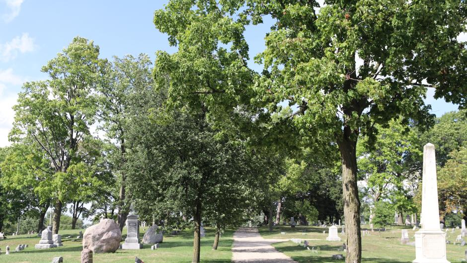 Opening in 1838, the Fulton Street Cemetery is Grand Rapids' first municipally dedicated graveyard.