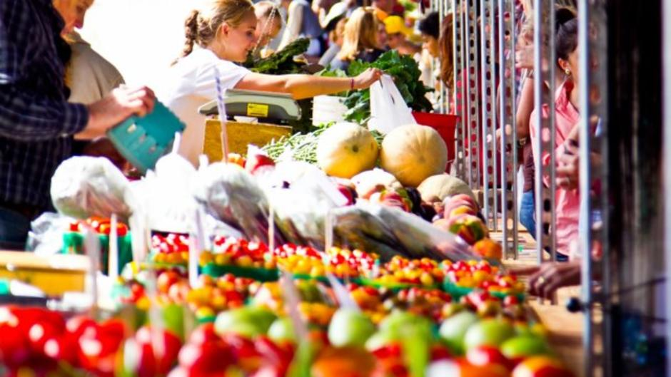 Get fresh fruits, veggies, and so much more at the Fulton Street Farmers Market.