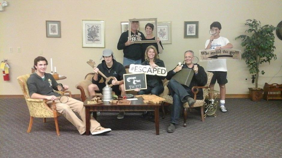 Group Posing in The Great Escape Room Grand Rapids