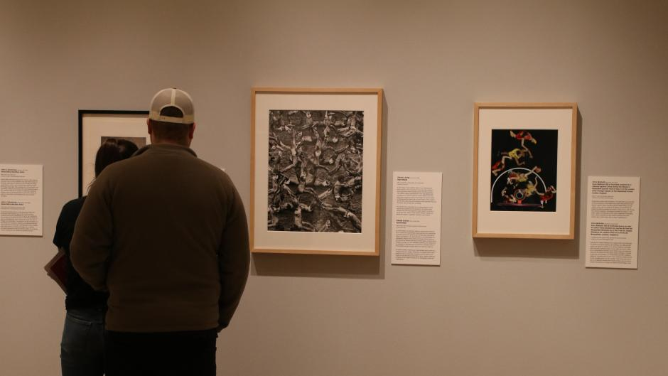 "The ""Who Shot Sports"" exhibit is organized into nine thematic sections, ranging from action shots of athletes to fans overcome with excitement."