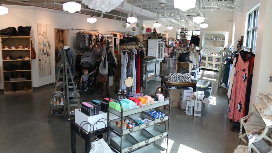 Paperdoll Boutique carries a variety of women's clothing, shoes, and accessories.