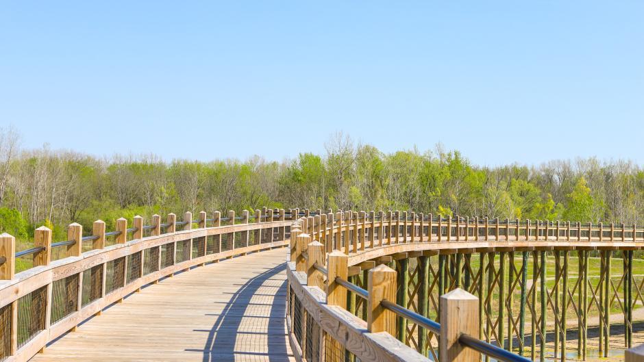 Bridge at Millennium Park in Grandville