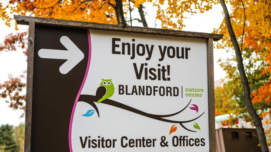 The Blandford Nature Center features eleven different trails to choose from, ranging from easy to difficult.