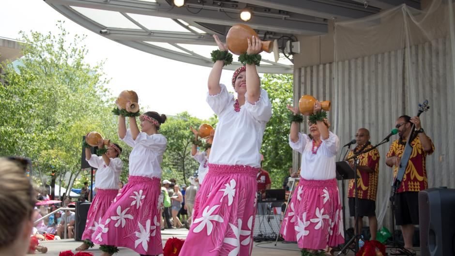 Dancers at the 2017 Asian Pacific Festival by Regina Grover