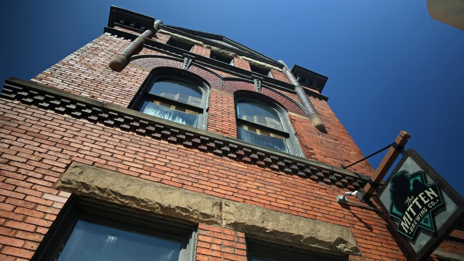 "Fact: The Mitten Brewing Co.'s building used to be ""home"" to the historic Engine House No. 9!"