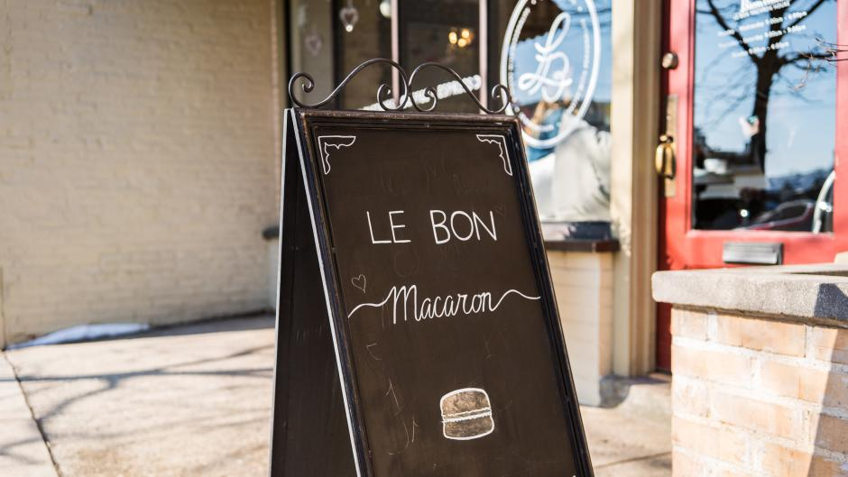 Le Bon Macaron's homemade treats and coffee will make you feel like you're in Paris.