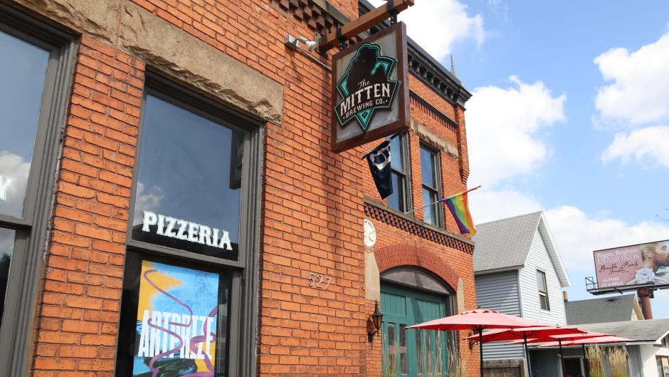 Mitten Brewing Co is home to Hearts for the Arts' exhibition during ArtPrize 10.  Photo Credit: Experience Grand Rapids