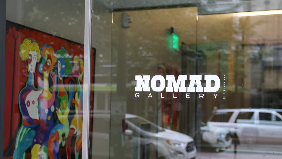 Longtime gallerist, Richard App, opened NOMAD Gallery, a continuously traveling studio space.