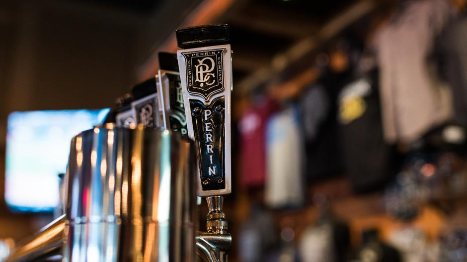 At any given time, Perrin Brewing Co. has over 15 craft beers on tap that span four tiers.