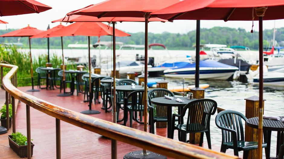 Make sure to sit on Rose's waterfront patio, enjoy their complementary caramel corn, and admire the menus for a local history lesson!