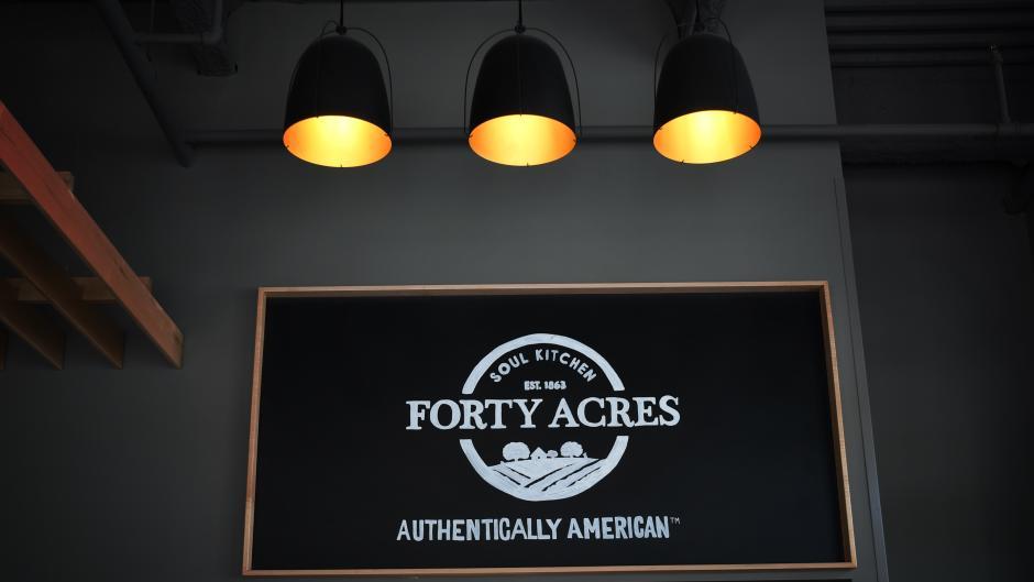 Forty Acres Restaurant indoor sign
