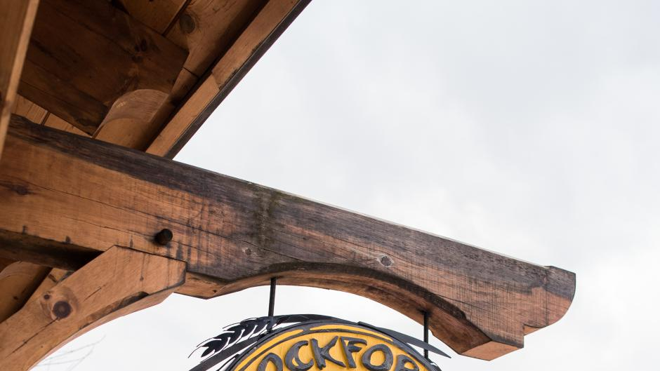 Rockford Brewing Co. exterior hanging sign