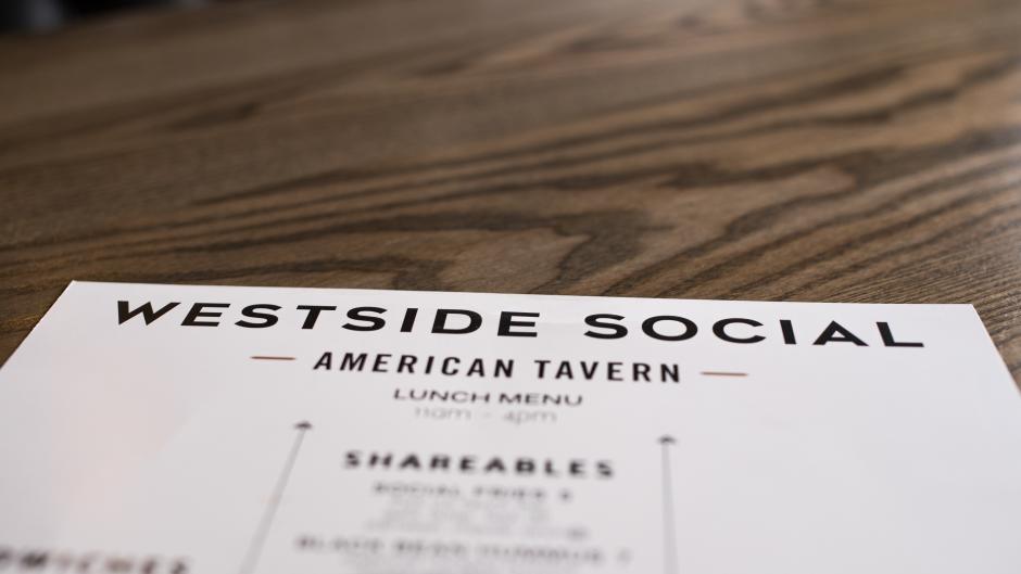 Westside Social menu