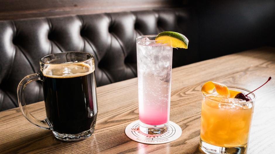 Don't forget to sample Westside Social American Tavern's extensive list of draft beer, wine, and cocktails.