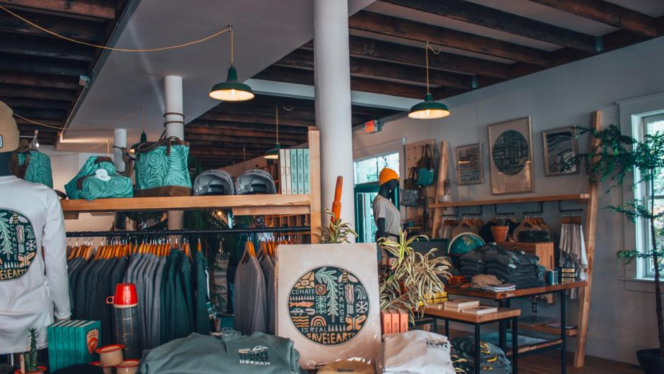 Interior of Woosah Outfitters.
