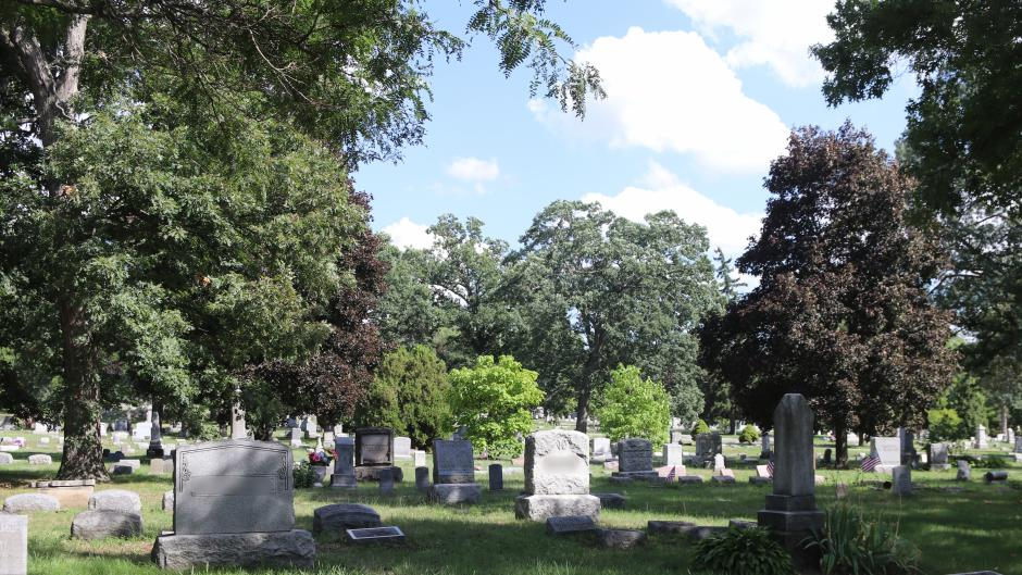 Oakhill Cemetery is filled with grand mausoleums and monuments.