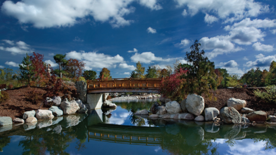 Take in the tranquility of the Richard and Helen DeVos Japanese garden.