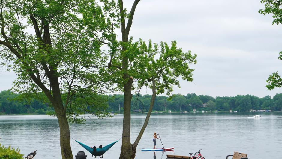 Bring your picnic to John Collins Park to hammock, watch boats and paddlers, and enjoy the large, grassy park.