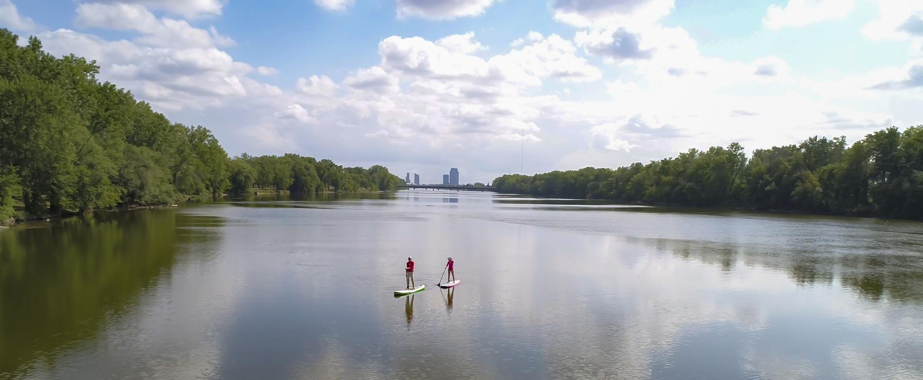 The Grand Rapids area offers many lakes and rivers that are great for SUPing.