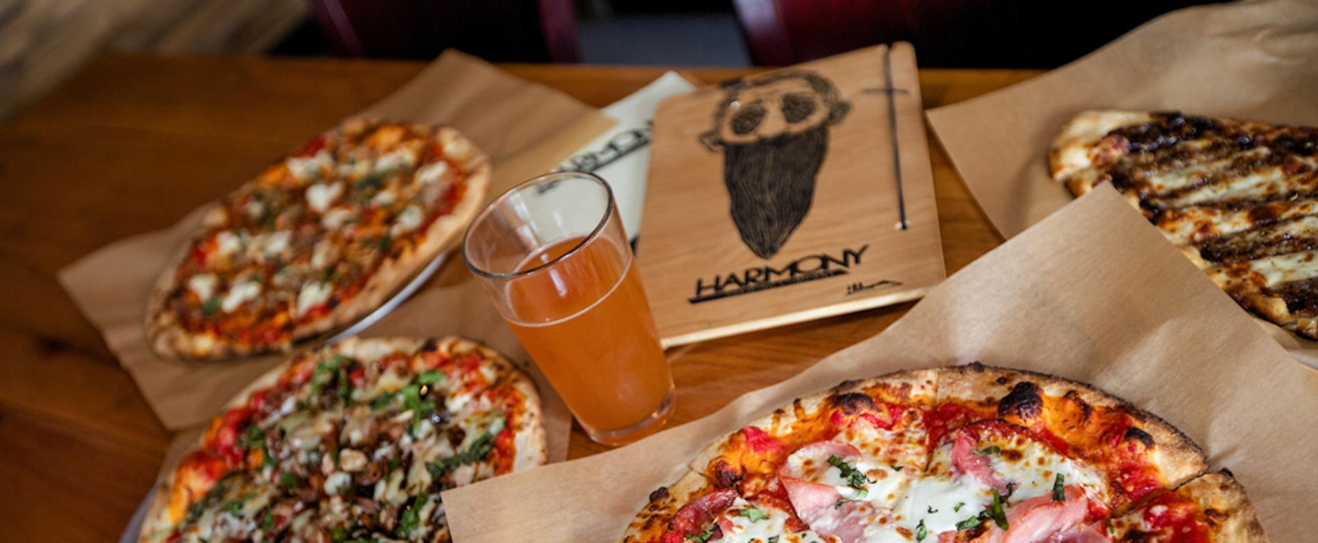 Pizza and Beer at Harmony Brewing
