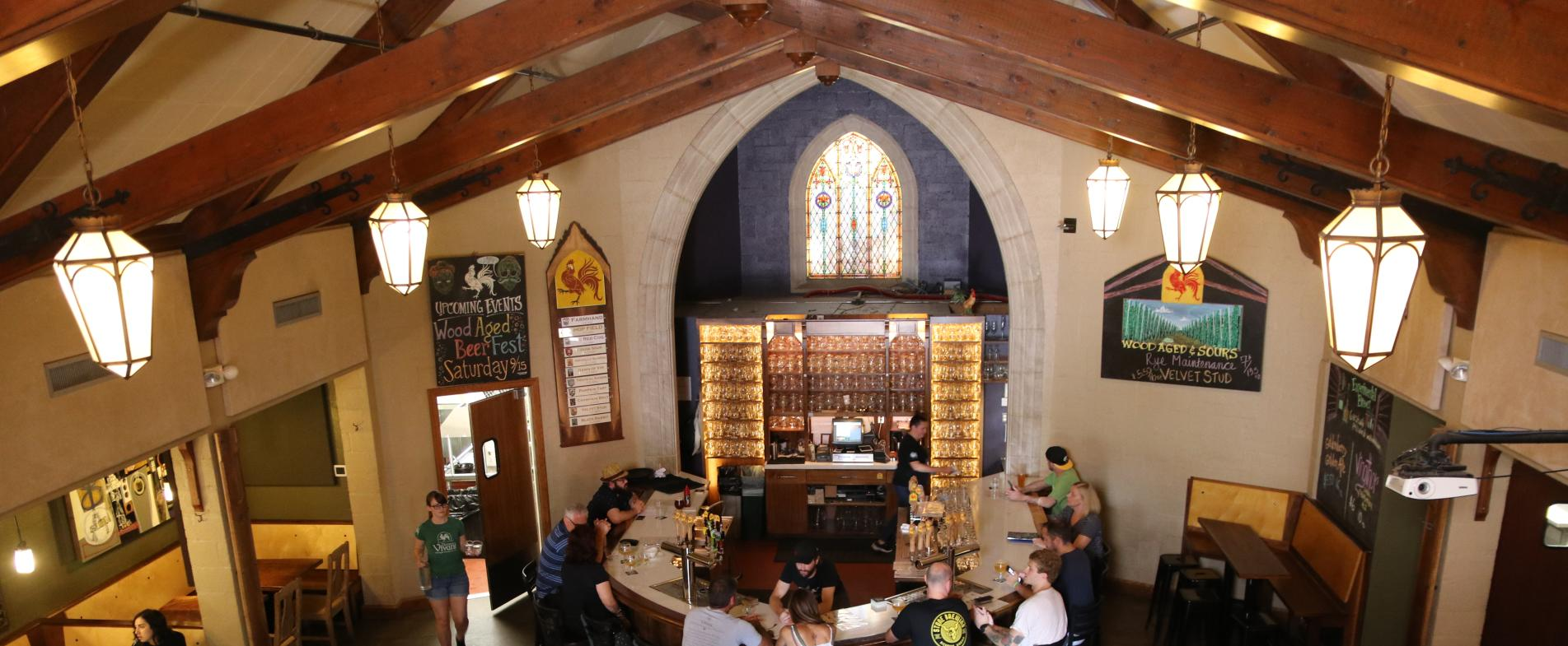 Brewery Vivant used to be a funeral chapel.