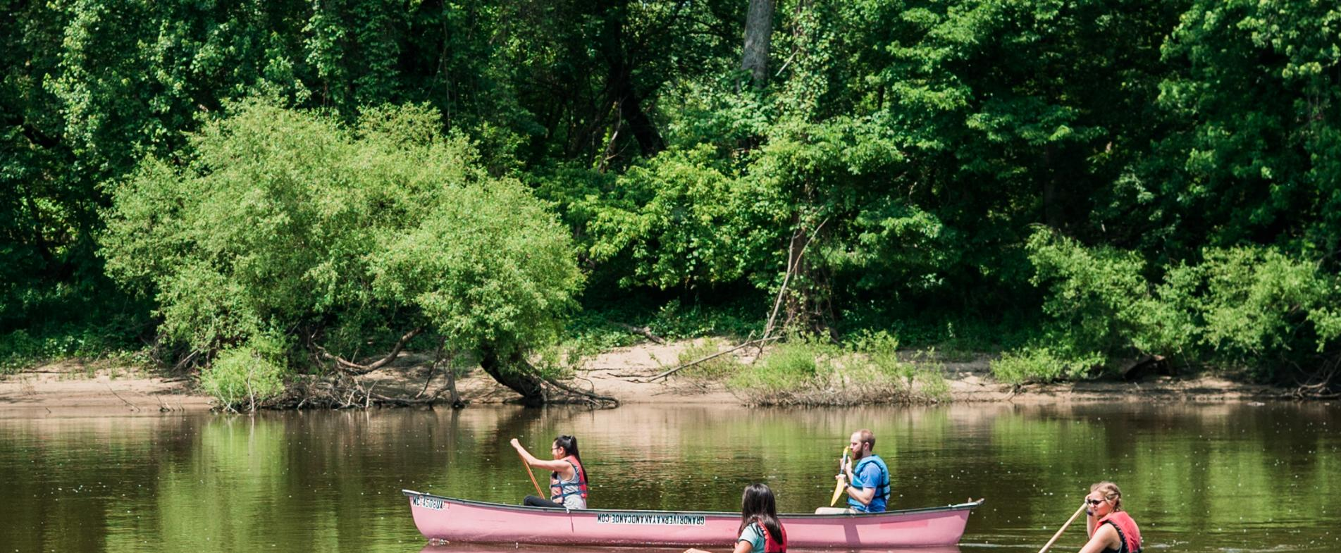 Canoeing on area rivers.