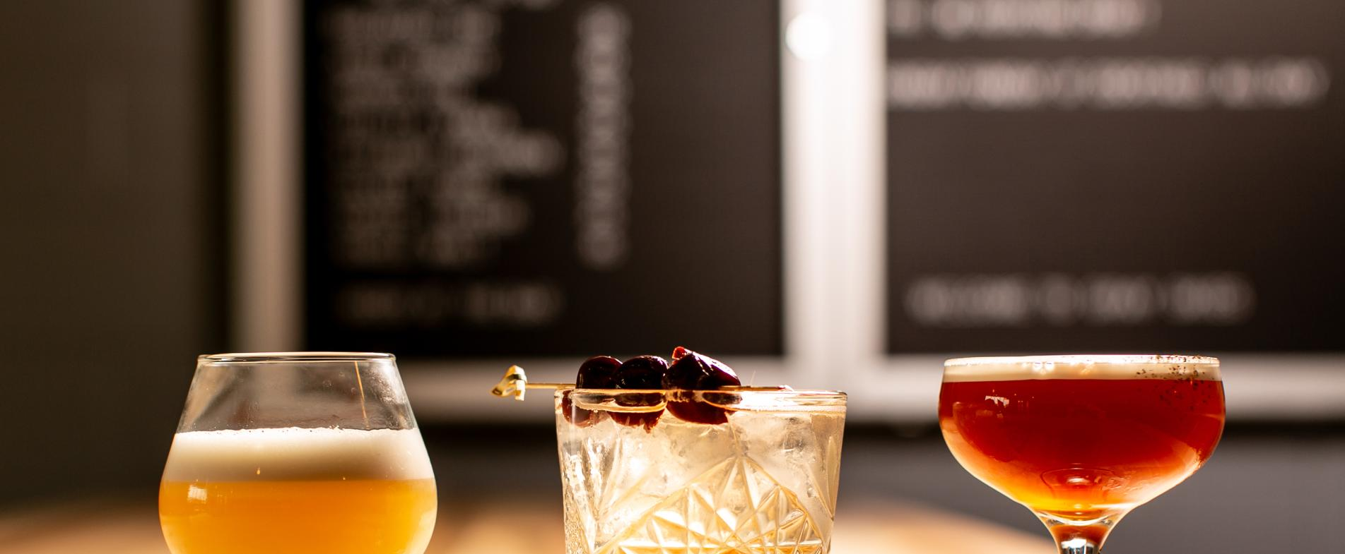 Gray Skies made a selection of rye cocktails for Cocktail Week GR 2018 using hand-crafted ingredients.