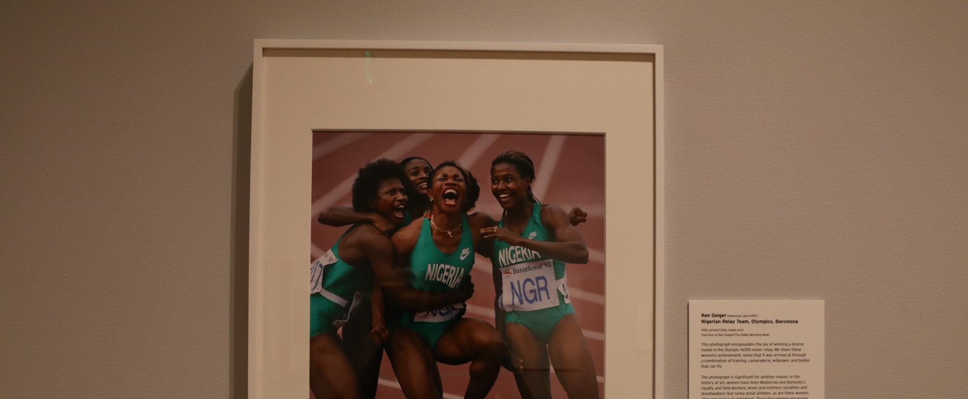 "The Nigerian 4x100 meter relay team exuding excitement after earning a bronze medal in the 1992 Olympics is just one of the images featured in ""Who Shot Sports."""
