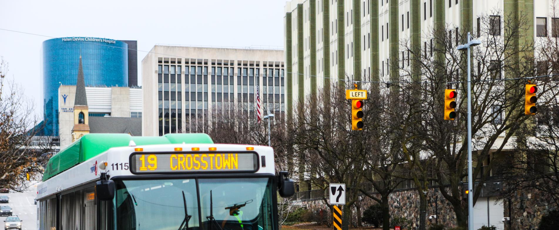 Route 19 will give you a fare-free ride to Medical Mile along Michigan Avenue.