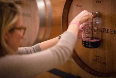 Conn Creek Barrel Wine Blending
