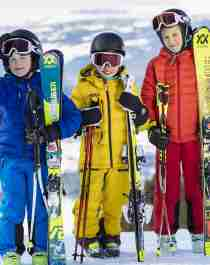 Small guides to big ski adventures: The six-year-old children Morten, Pernille and Alexandra are ready to show you how to master the alpine slopes in Norway