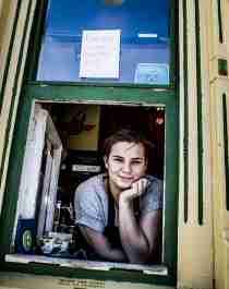 Den legendariske kiosken Raketten Bar & Pølse i Tromsø i Nord-Norge